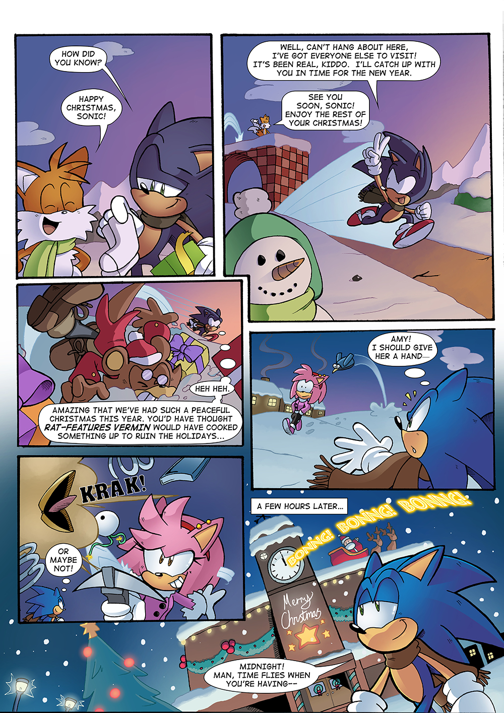 Sonic Christmas Hours.Stc 276 Sonic The Comic Online